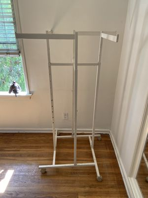 Rolling Clothing rack $15 pickup only for Sale in Burbank, CA