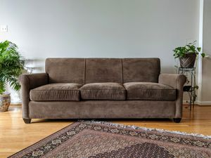 Crate & Barrel: Light Chocolate Couch & Armchair for Sale in Alexandria, VA