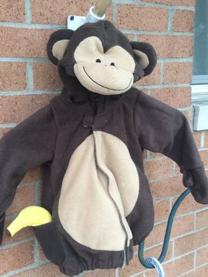 Child monkey Halloween costume from old navy 12-24 months. $15 for Sale in Columbus, OH