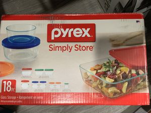 18 pieces new Pyrex storage containers for Sale in Aurora, CO