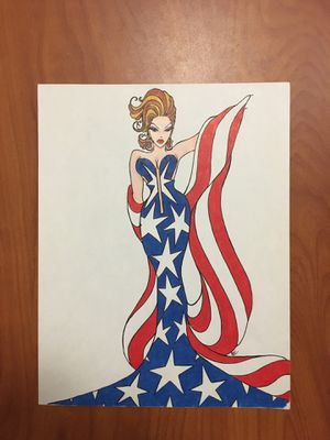 8.5x11 Drawings of women. Have 50+ available for sell. All are fashion/Barbie/super hero type drawings colored with Prisma color pencils. Selling the for Sale in Mesa, AZ