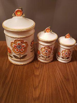 3pc japanese floral cookie jar set 1963 for Sale in Monroe, VA