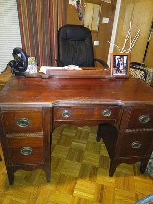 Antique desk and table with side flaps for Sale in Stone Mountain, GA