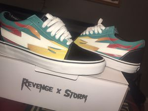 revenge x storm vans , teal blue size 10.5 TRADES ONLY only worn to take pictures for Sale in Modesto, CA