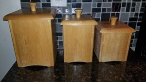 Wooden kitchen storage containers for Sale in Coronado, CA