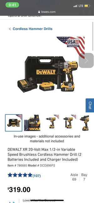 "Drill Dewalt XR ""ALL NEW"" for Sale in Tampa, FL"