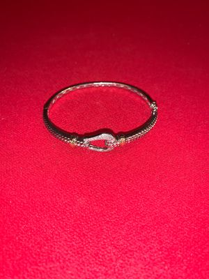 Diamond Silver Bracelet with 14k Gold Accent for Sale in VERNON ROCKVL, CT
