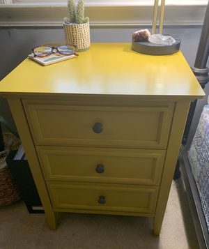 Yellow 3 Drawer Nightstand for Sale in Alexandria, VA