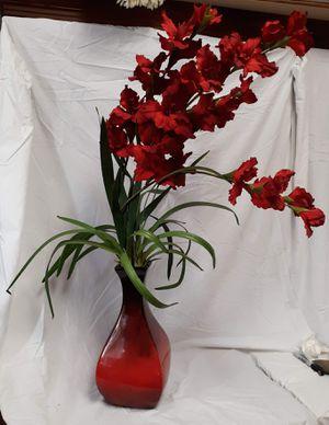 Ceramic Vase w/flowers for Sale in San Antonio, TX