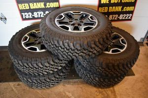 Set of 5's - Jeep Wrangler OEM Wheels with Mud-Terrain Tires for Sale in Pasadena, CA