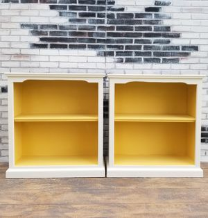 Cottage/farm house. 2 bookshelves. 2 shelves. Cottage white/yellow for Sale in Westchester, CA