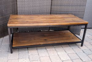 Gorgeous Rustic Modern Industrial Style Wood & Metal Coffee Table for Sale in Phoenix, AZ