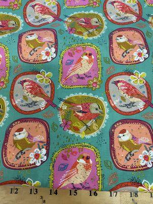 Beautiful Birds in frame cotton fabric 1 yard for Sale in Corona, CA
