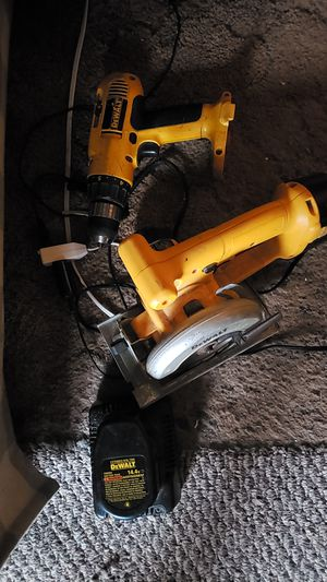 Dewalt cordless drill and saw for Sale in Martinsville, IN
