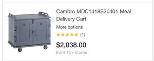 Cambridge insulated food cart for Sale in Dallas, TX