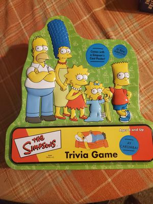 Simpson's trivia game for Sale in Riverside, CA
