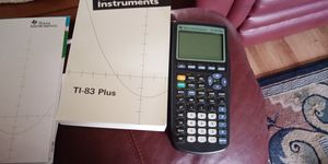 TI-83 Plus with booklet and full manual for Sale in Bradenton, FL