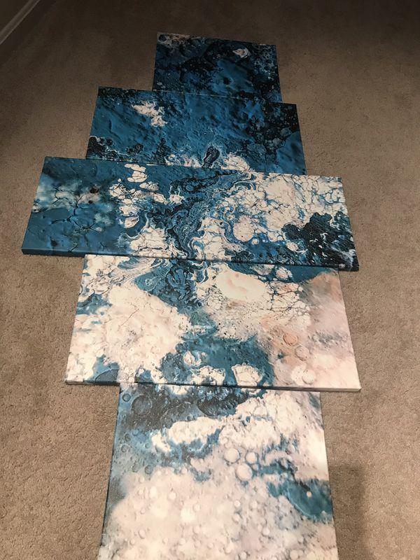 5 piece canvas wall art
