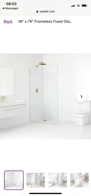 Frameless Fixed Shower Door 36 x 78 for Sale in Seaford, NY