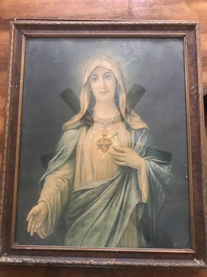 Sacred Heart of Christ and Mary framed Photos for Sale in Cleveland, OH