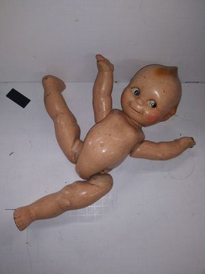Creepy scary antique doll wooden jointed strings for Sale in Bethlehem, PA