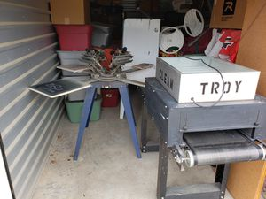 Complete Screen Printing Shop for Sale in Spring, TX