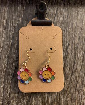 Handmade Small Rainbow Flower Earrings for Sale in Dover, FL