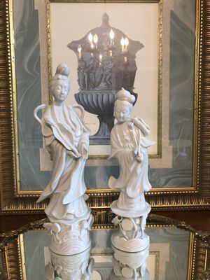Vintage, Blanc de Chine GuanYin statues (GuanYin-Buddhist Goddess of Mercy) for Sale in Tucker, GA