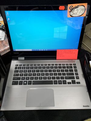 "14"" Toshiba Satellite Radius E45W-C 2-in-1 Touchscreen Black Laptop for Sale in Baltimore, MD"