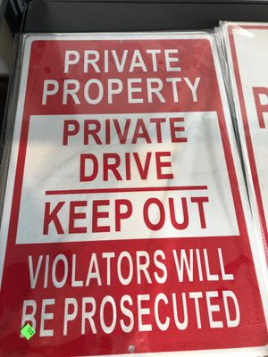 Private property sign for Sale in Olympia, WA