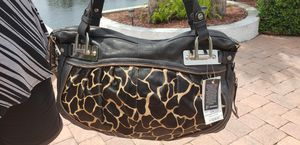 Retail $ 298 new BMakowsky calf hair giraffe africa african purse handbag for Sale in New Port Richey, FL