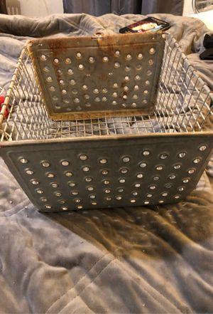Vintage metal swimming pool locker basket. 3 available for Sale in Saint James, MO