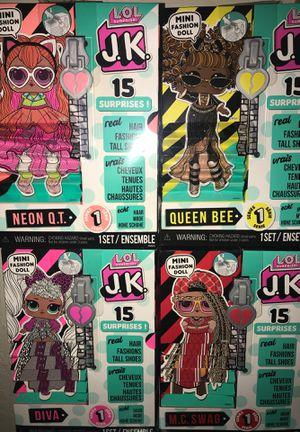 LOL surprise a little mini fashion dolls JK set for Sale in Fresno, CA