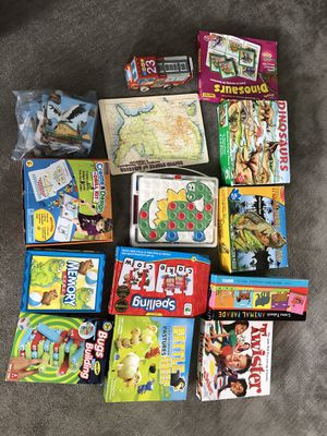 Collection of games and puzzles for 3-6 y/o. for Sale in Salt Lake City, UT