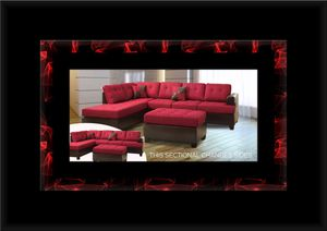 Red sectional with ottoman for Sale in Manassas, VA