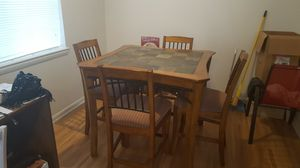 High top kitchen table with 4 chairs for Sale in Herndon, VA
