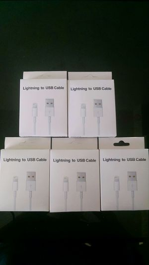 5pack USB charger cable for iPhone for Sale in Everett, MA