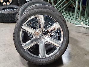 22x9.5 2crave wheels chrome rims 6 lug tires for Sale in Las Vegas, NV