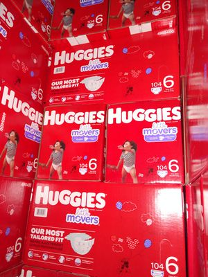 HUGGIES LITTLE MOVERS SIZE 6 $33 CADA 1 CAJA PRECIO FIRME RRECOJER EN SANTA ANA CA NO ADOMISILIO 👁️👀👁️👀 for Sale in Santa Ana, CA