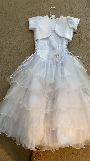 Wedding Flower Girl Dress with shoes and basket for Sale in Malden, MA