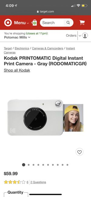Kodak Printomatic Digital Instant Print Camera for Sale in Fort Belvoir, VA