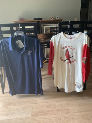 BRAND NEW Cardinals tee Blues Polo for Sale in St. Peters, MO