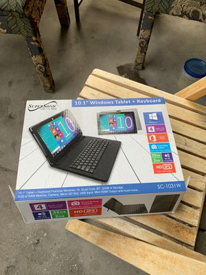 10.1 windows tablet and keyboard and wireless mouse only used once for Sale in San Bruno, CA