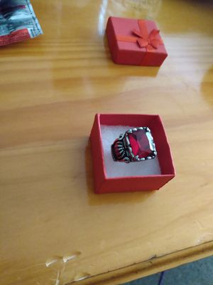 Mens silver ruby ring for Sale in Tampa, FL