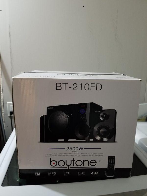 Boytone BT-210FD wireless speaker black 2500w
