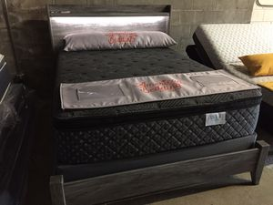 New mattress, box spring, & Bed Frame same delivery setup for Sale in Ferguson, MO