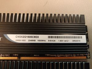 6GB (2gbx3)of Corsair DDR3 memory for Sale in Aberdeen, MS