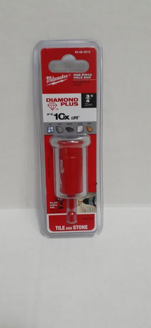 Milwaukee 3/4 in. Diamond Plus Hole Saw W/ Arbor brand new nuevo for Sale in San Bernardino, CA