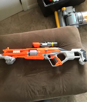 Nerf Gun + Attachments for Sale in Hickory Hills, IL