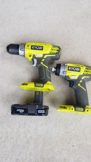 RYOBI 18 V Hammer drill and impact for Sale in Oak Forest, IL